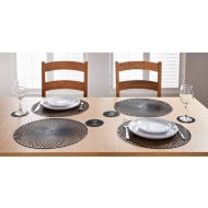 Luxe Maison Cut Out Placemats 4pk - Black