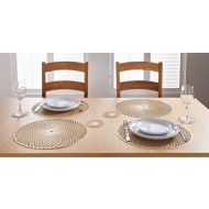 Luxe Maison Cut Out Placemats 4pk - Gold