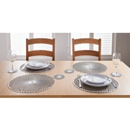 Luxe Maison Cut Out Placemats 4pk - Silver