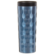 Stainless Steel Wave Travel Mug - Blue