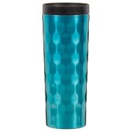 Stainless Steel Wave Travel Mug - Teal
