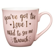 Jumbo Gold Foil Mug - You've Got the Love