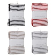 Karina Bailey Stripe Rib Tea Towels 3pk - Black