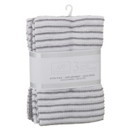 Karina Bailey Stripe Rib Tea Towels 3pk - Grey