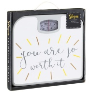 Slogan Bathroom Scales - So Worth It
