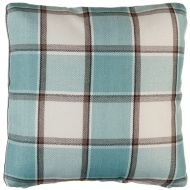 Tartan Cushion Covers 2pk - Duck Egg