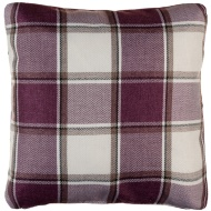Tartan Cushion Covers 2pk - Mauve