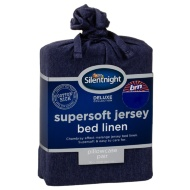 Silentnight Jersey Pillowcase Pair - Navy
