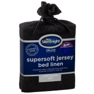 Silentnight Jersey Pillowcase Pair - Charcoal