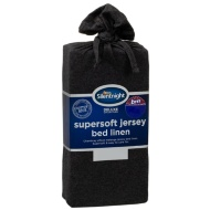 Silentnight Jersey King Fitted Sheet - Charcoal