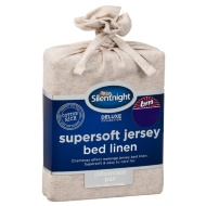 Silentnight Jersey Pillowcase Pair - Natural