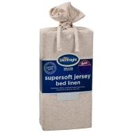 Silentnight Jersey King Fitted Sheet - Natural