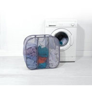 Beldray Pop-Up Mesh Triple Sorter Laundry Bag - Grey