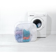Beldray Pop-Up Mesh Triple Sorter Laundry Bag - White