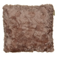 Sculptured Faux Fur Cushion - Mink