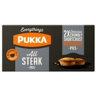 Pukka All Steak Pies 2pk