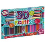 Hobby World 3D Glitter Neon Paints Set