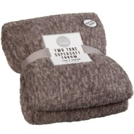 Two Tone Super Soft Throw - Charcoal