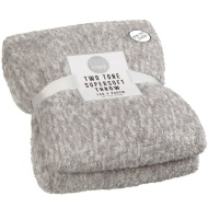 Two Tone Super Soft Throw - Light Grey
