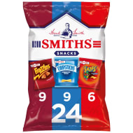Smith's Frazzles, Chipsticks, Snaps Crisps 24pk