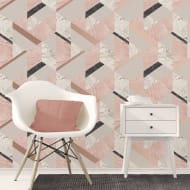 Fine Decor Marblesque Geometric Wallpaper - Pink
