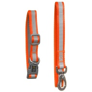 Reflective Collar & Lead Set - Orange