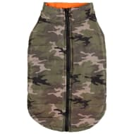 Dog Puffer Coat - X-Small - Medium - Green Camo
