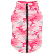Dog Puffer Coat - X-Small - Medium - Pink Camo