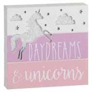 Unicorn Decorative Block - Daydreams & Unicorns