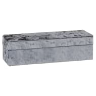 Luxe Crushed Velvet Jewellery Box - Charcoal