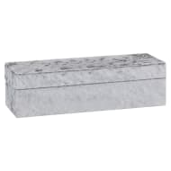 Luxe Crushed Velvet Jewellery Box - Silver
