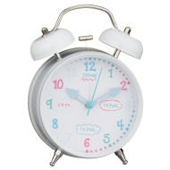 Learn to Tell the Time Alarm Clock - White