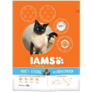 IAMS Adult Cat Food 800g - Fish & Chicken
