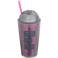 Glitter Soda Cup - Sorry Not Sorry