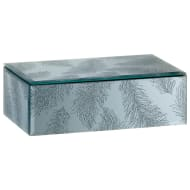 Glitter Mirror Box - Feathers