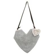 Glitter Heart Decorative Plaque
