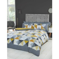 Geo Ochre Double Duvet Set