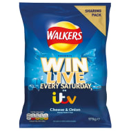Walkers Crisps Cheese & Onion Sharing Bag 175g