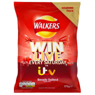 Walkers Crisps Ready Salted Sharing Bag 175g