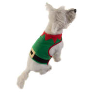 Christmas Dog Body Warmer - Elf - X-Small - Medium