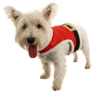 Christmas Dog Body Warmer - Santa - X-Small - Medium