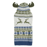 Christmas Dog Jumper & Antlers - Small - Large - Traditional