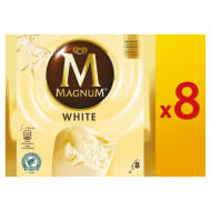 Magnum White Ice Creams 8pk