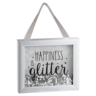 Sequin Box Plaque - Happiness is Glitter