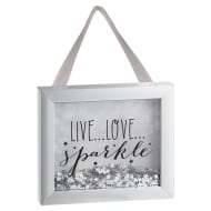 Sequin Box Plaque - Live Love Sparkle