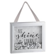Sequin Box Plaque - Rise, Shine & Sparkle