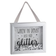 Sequin Box Plaque - Just Add Glitter