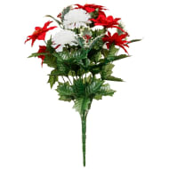 Poinsettia & Holly Bouquet