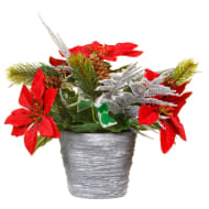 Frosted Pine Cone Assortment Pot
