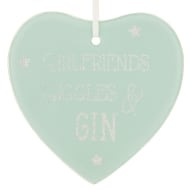 Glass Glitter Hanging Plaque - Giggles & Gin